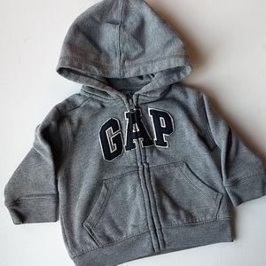 Baby Gap Zipup Grey Hoodie * Size 6-12M